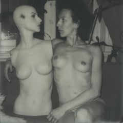 Marcella and me - Contemporary, Nude, Women, Polaroid, 21st Century