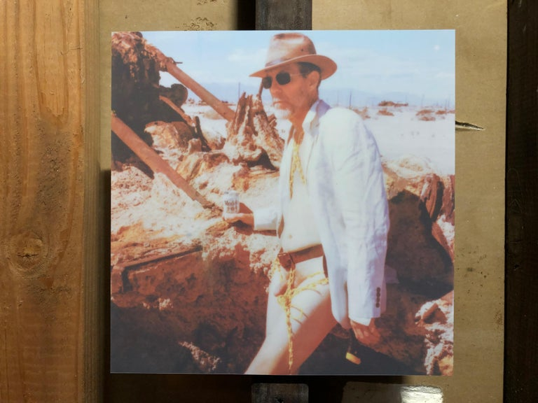 Memoirs of a Beach Boy - Contemporary, Nude, men, Polaroid, 21st Century - Brown Nude Photograph by Kirsten Thys van den Audenaerde
