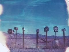 Mr. Postman - 21st Century, Polaroid, Landscape Photography, Contemporary