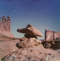 On the right Track - 21st Century, Polaroid, Landscape Photography