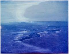 Origins -Contemporary, Expired, Polaroid, Photograph, Landscape, Blue