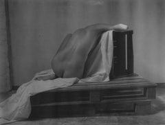 Over my head - Contemporary, Polaroid, Black and White, Women, Nude