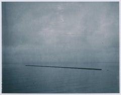 Pier - Contemporary, Expired, Polaroid, Photograph, Waterscape, Salton Sea