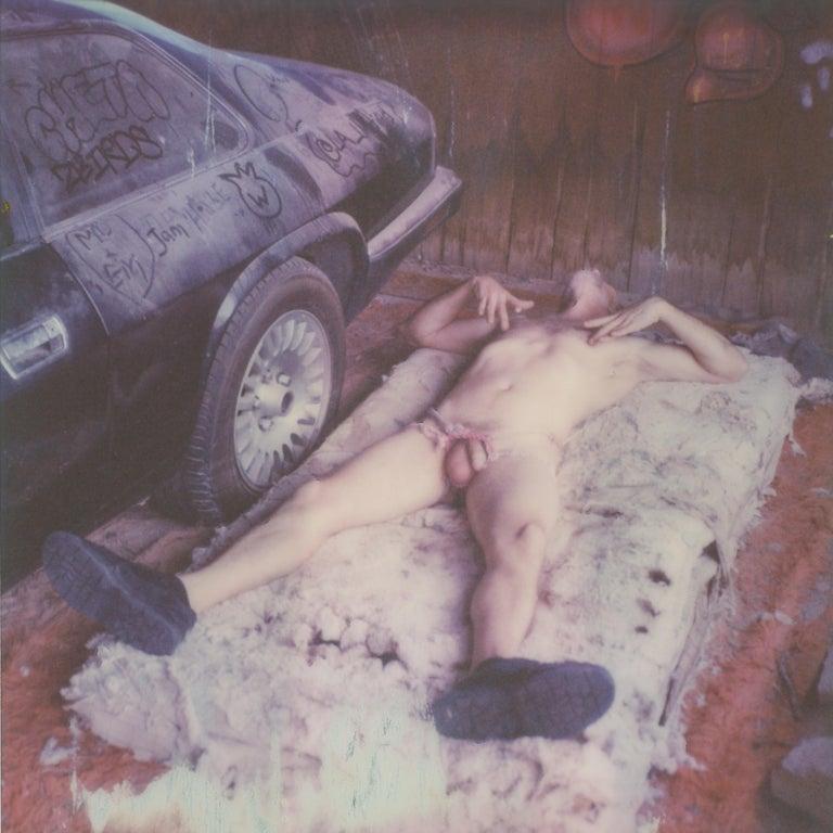 Kirsten Thys van den Audenaerde Nude Photograph - Pins and Needles - Contemporary, Nude, men, Polaroid, 21st Century