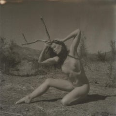 Ressurection, 21st Century, Polaroid, Nude Photography, Contemporary, B&W