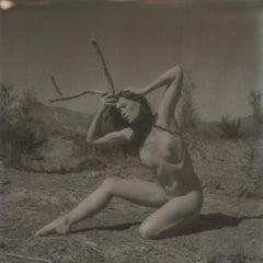 Resurrection (50x50cm) - 21st Century, Polaroid, Nude, Contemporary, B&W