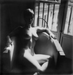 Reveal - 50x50cm, Contemporary, Woman, Figurative, Nude, Polaroid, photograph