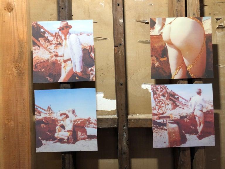 Sign of the Times - Contemporary, Nude, men, Polaroid, 21st Century - Brown Nude Photograph by Kirsten Thys van den Audenaerde