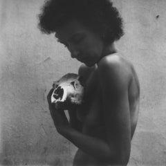 Skin and Bones I - 21st Century, Polaroid, Nude Photography, Contemporary, B&W