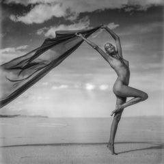 Synchronicity - Polaroid, Black and White, Women, 21st Century, Nude