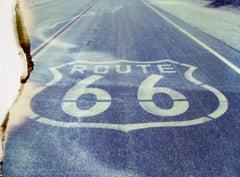 The road ahead - Contemporary, Landscape, Polaroid, Route 66