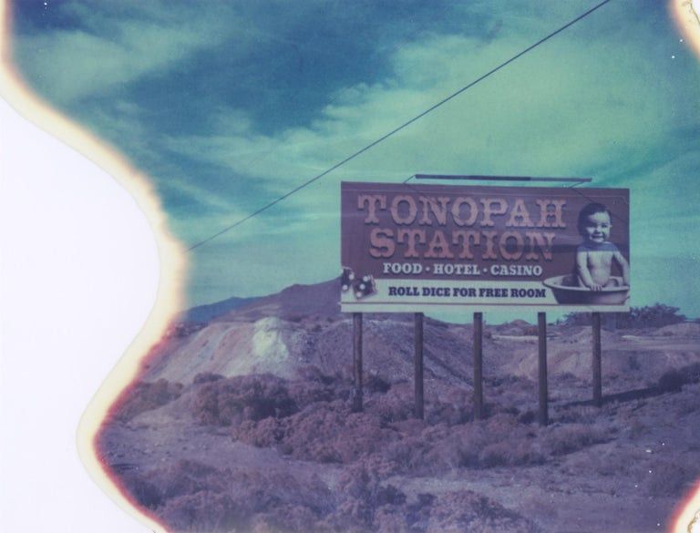 Tonopah Calling, 2018, Edition 2/7 plus 2 Artist Proofs, based on an original Polaroid, Digital C-Print, not mounted. Signed on the back and with certificate. Artist inventory PL2016-417  Kirsten Thys van den Audenaerde is a self-taught freelance