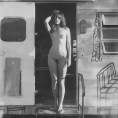 Wake-up call (Bombay Beach) - Contemporary, Polaroid, Nude, Black and White