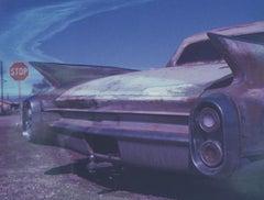 Winged I, 21st Century, Polaroid, Vintage Cars, Photography, Contemporary