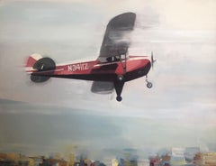 FLIGHT / Airplane oil on canvas