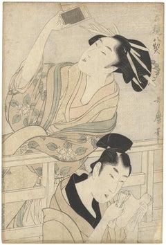Utamaro, Original Japanese Woodblock Print, 18th Century, Beauty, 47 Rōnin, Edo
