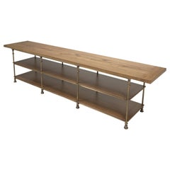 Kitchen Island by Old Plank Solid Bronze, Reclaimed White Oak in Any Dimension