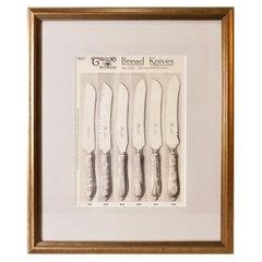 Kitchen Knives Vintage Framed Print
