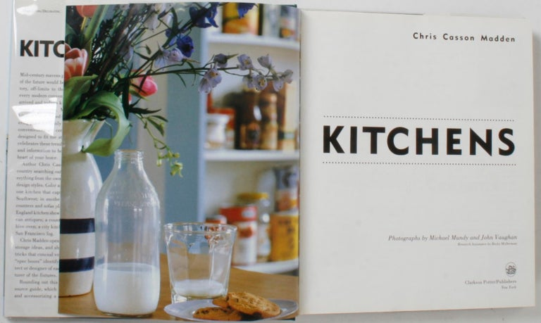 Kitchens: Information and Inspiration for Making Kitchens the Heart of the Home. New York: Clarkson Potter/Publishers, 1993. Hardcover with dust jacket and protective glassine cover. 287 pp. Showcase of kitchens meant to inspire the at-home