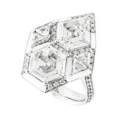 Kite and Hexagon Fancy Diamond Shapes Ring