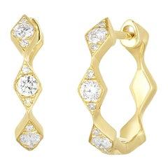Kite Diamond Earrings, Yellow Gold, Ben Dannie
