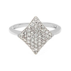Kite Shape Diamond Gold Ring