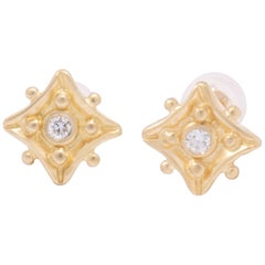 Kite Stud Earrings with Diamonds in 18 Karat Gold