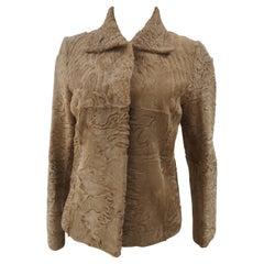 Kiton lamb fur coat