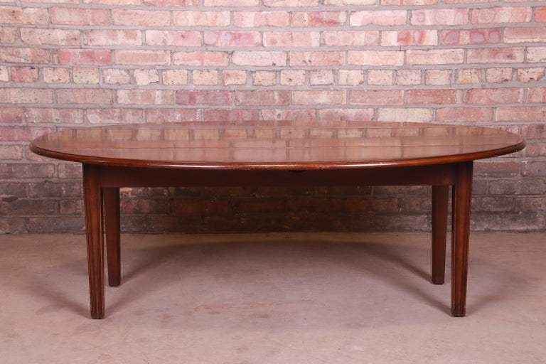Kittinger American Colonial Mahogany Drop-Leaf Coffee Table In Good Condition For Sale In South Bend, IN