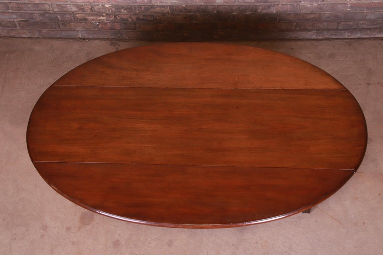 Kittinger American Colonial Mahogany Drop-Leaf Coffee Table For Sale 1