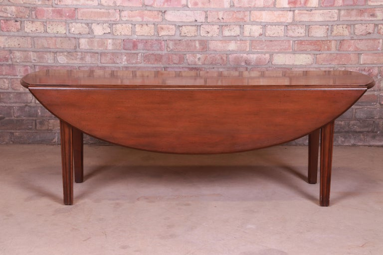 Kittinger American Colonial Mahogany Drop-Leaf Coffee Table For Sale 4