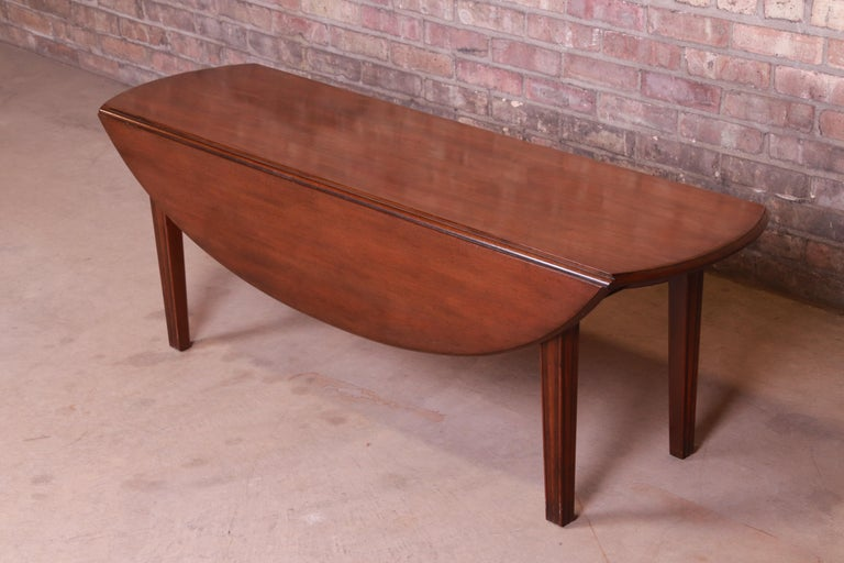 Kittinger American Colonial Mahogany Drop-Leaf Coffee Table For Sale 5
