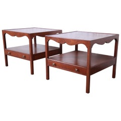 Kittinger American Colonial Walnut End Tables or Nightstands, Newly Restored