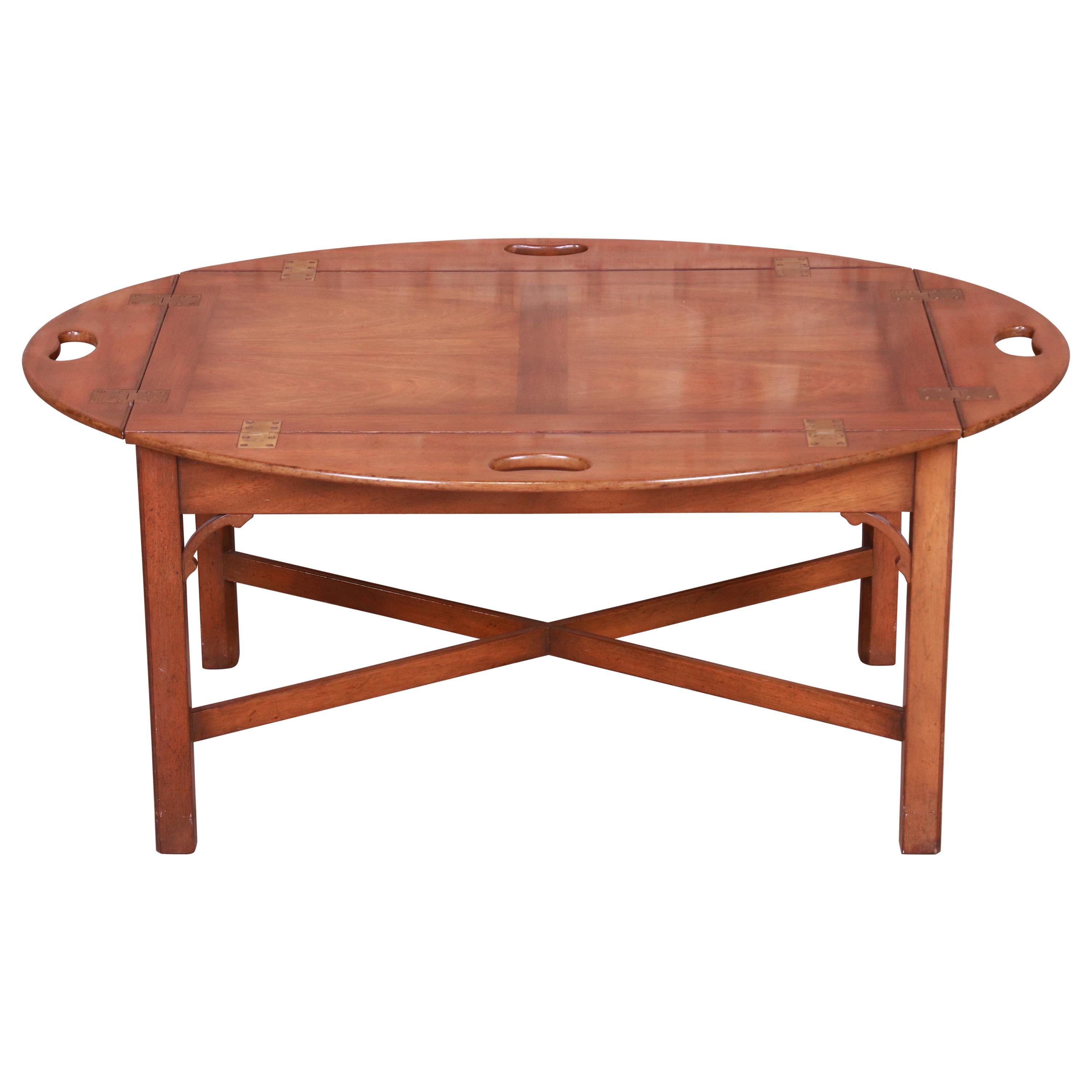 Kittinger Chippendale Mahogany Butler's Coffee Table
