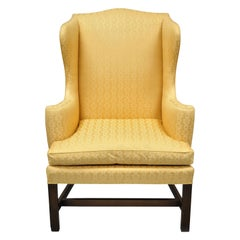 Kittinger CW-12 Colonial Williamsburg Gold Wing Wingback Mahogany Chair