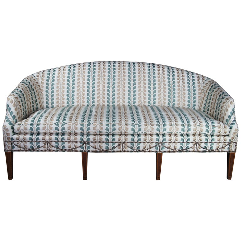 Kittinger Hepplewhite Bowback Mahogany Inlaid Sofa Osborn And Little Federal For Sale At 1stdibs