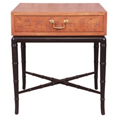 Kittinger Hollywood Regency Faux Bamboo Occasional Side Table, Circa 1950s