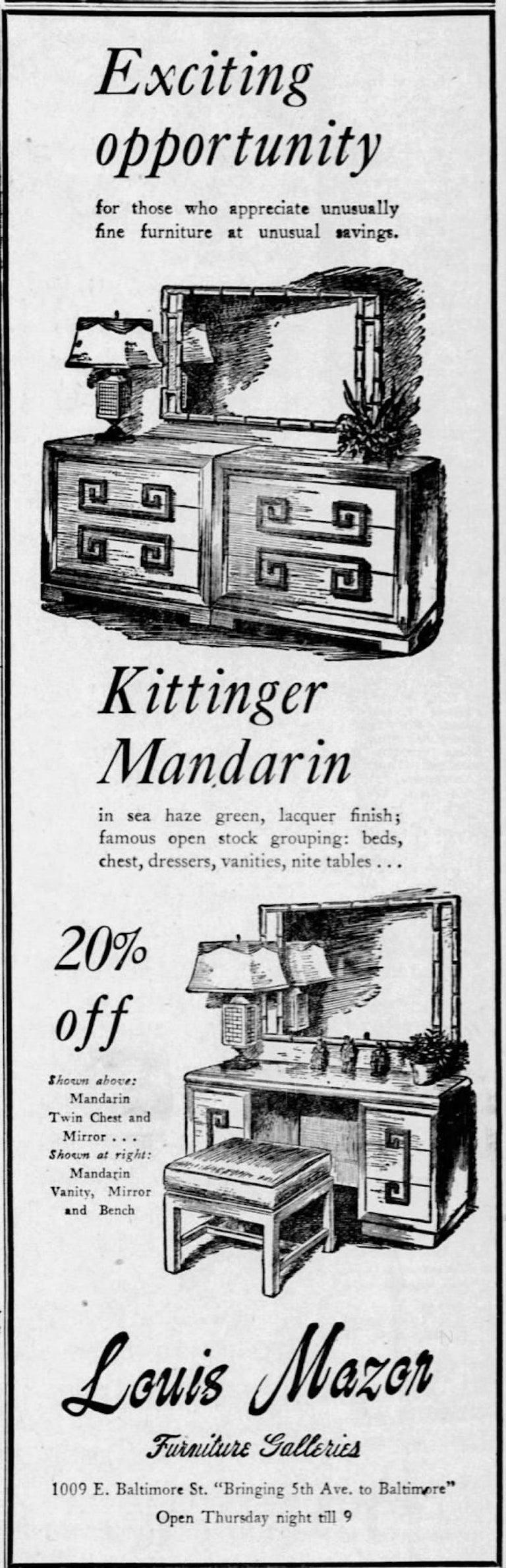 Kittinger Mandarin Chest on Chest For Sale 3