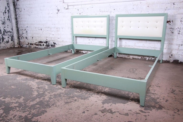 Mid-Century Modern Kittinger Mandarin Collection Twin Beds, Pair For Sale