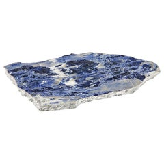 Kiva Large Platter in Indigo and Pure Silver by Anna Rabinowitz