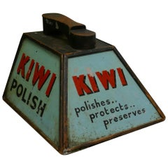 Kiwi Boot Polish Advertising Shoe Cleaning Box with Shoe Rest