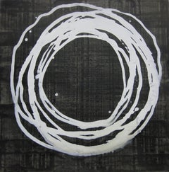 'Shinjo Series XII', Black and White Abstract minimalist Japanese painting