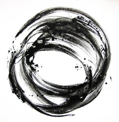 'Shinjo Series XIII', Black and White Abstract minimalist Japanese painting