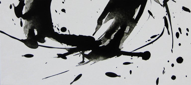 'Space II', Black and White Abstract minimalist Japanese painting - Contemporary Painting by Kiyoshi Otsuka