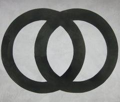 'Subarashi Toki', Black and White Abstract minimalist Japanese painting