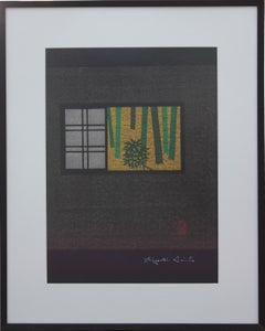 """Kyoto And Window"" Japanese Minimal Interior Woodblock Print"