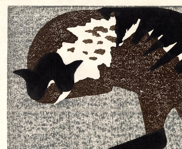 Cat and Kittens (Mother Love) - Modern Print by Kiyoshi Saitō