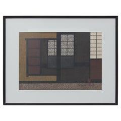 """""""Shoji Kyoto"""" Japanese Interior Woodblock Print"""
