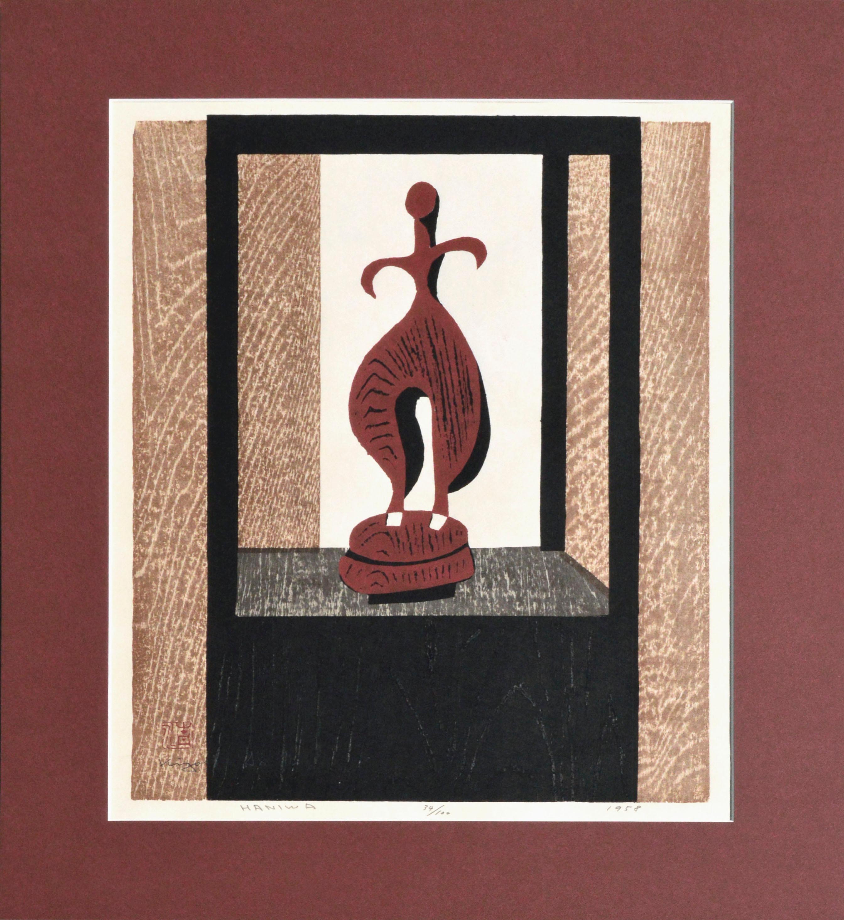 Terracotta, Haniwa Figure - Kofun Period Woodcut