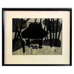 Kiyoshi Saitō Signed Japanese Woodblock Print Gioji Temple, Kyoto, 1956